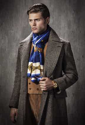 Or even a winter overcoat and corduroy suit.