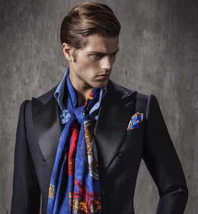 It also pairs perfectly with a chic evening suit and denim dress shirt.