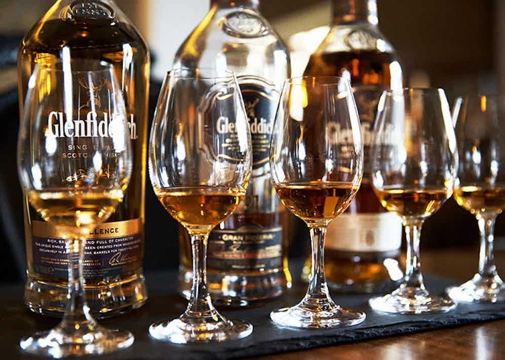 A fine line up of Scotch samples.