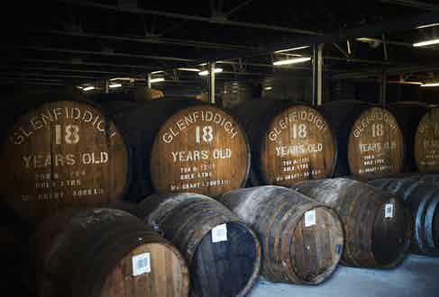 Casks of the 18 Year Old maturing in the distillery.