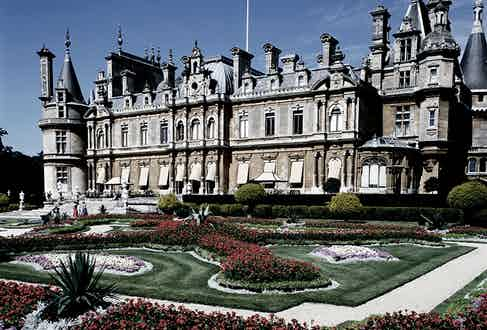 Waddesdon Manor, in Hampshire England is another of the resplendent properties built and owned by the Rothschilds; its architecture typifies the style known as 'Goût Rothschild'.