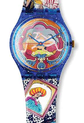 The limited edition Swatch Kamasutra watch.