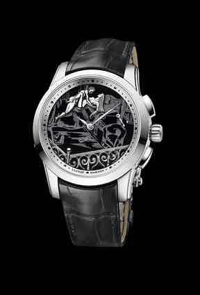 This 43mm platinum and onyx Ulysse Nardin Hourstriker caused a stir at this year's Baselworld.