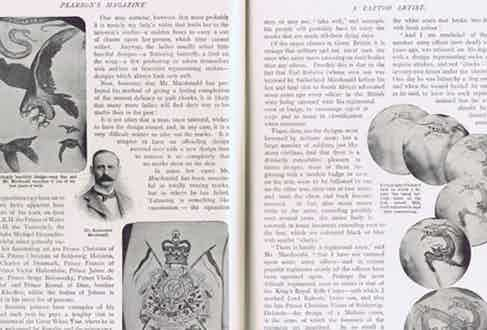 Pearson's Magazine depicts some of Sutherland Macdonald's designs in 1902