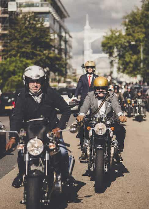 The vanguard of the Distinguished Gentlemen's Ride, 2015.