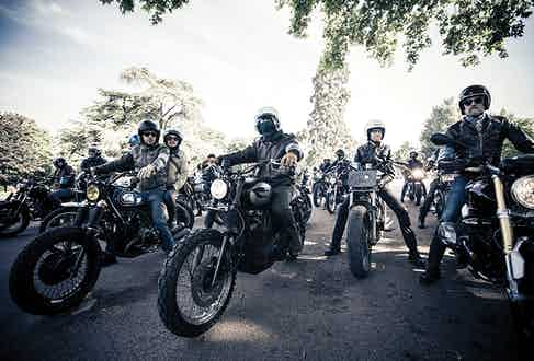 An impressive line up at the RRL Riders.