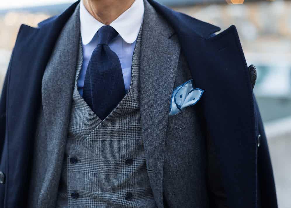 Coat - Stile Latino, Gilet - Bevilaqua, Shirt - Gitman Brothers, Tie - Petronius, Pocket Square - AD56