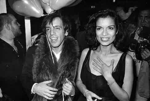 Steve Rubell & Bianca Jagger