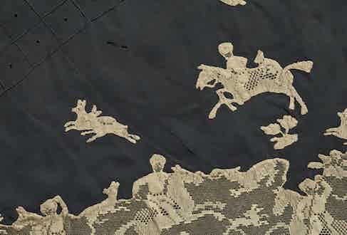 Detail, Silk chiffon knickers, possibly Hitrovo, 1930s
