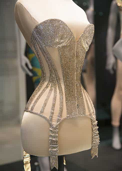 Mr Pearl corset made for Dita Von Teese