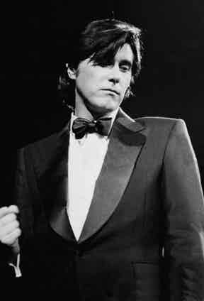 Roxy Music's Bryan Ferry, seen here performing at the Royal Albert Hall, epitomised the louche, sexy aesthetic of 1980s.
