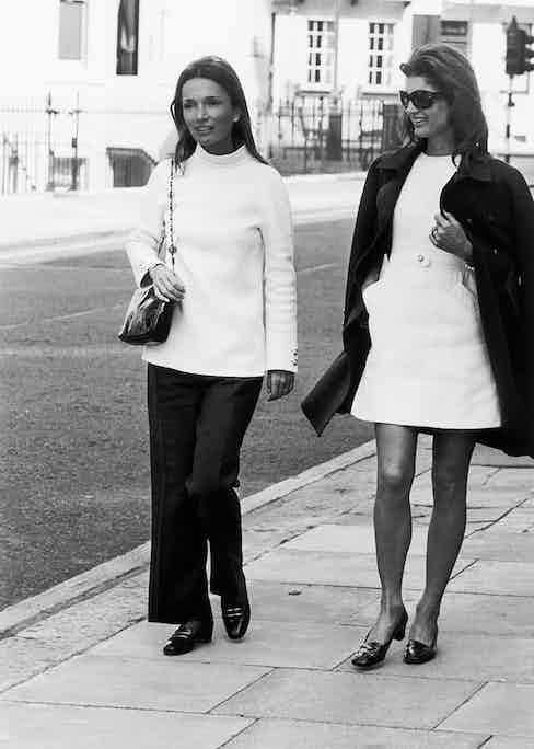 Lee and Jackie in London, circa 1970.