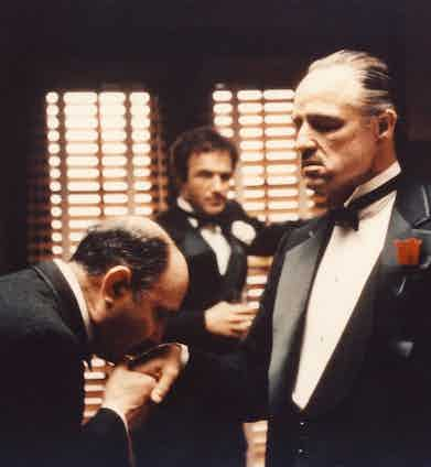 Films like The Godfather played no small part in re-popularising a thoroughly nostalgic, formal evening look in the 1970s.