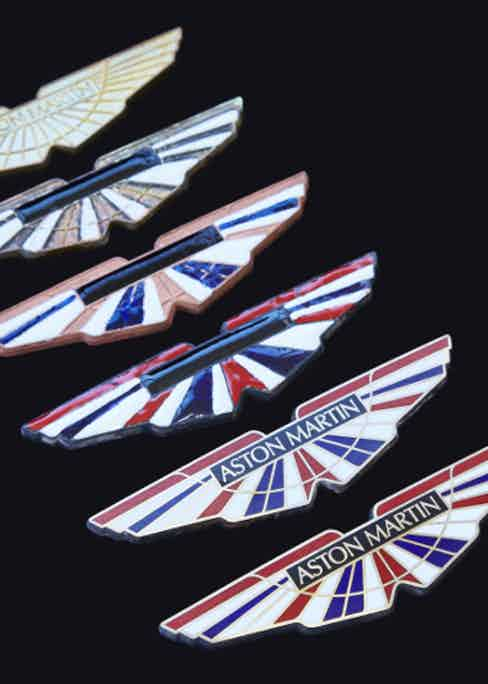 Displaying the various stages the Q by Aston Martin 'wings' go through.