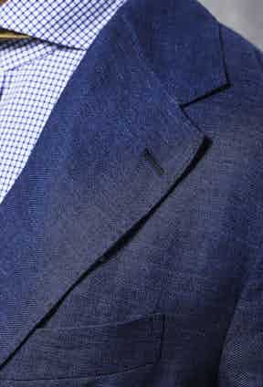 Note the typically Neapolitan dual line of topstitching along the blazer's lapels.