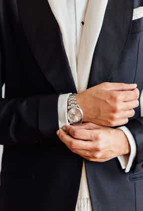 """This Omega Seamaster was a 21st Birthday present from Jonathan's family. """"It's very clean and fits my style perfectly"""" he says."""