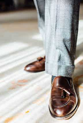 """When it comes to Northampton made footwear, Jonathan swears by Crockett & Jones: """"The design, quality and price-point triumvirate is perfect. They offer the perfect range of styles for any guy who likes truly 'grown-up' English footwear."""""""