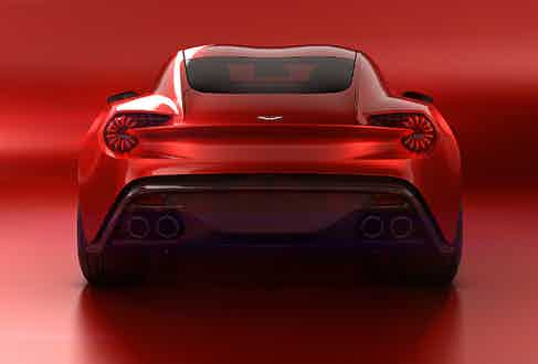 The rear lights incorporate the same 'bladed' LED technology found on the Vulcan hypercar.