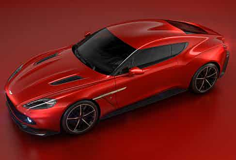 The 'double bubble' roof and powerful rear haunches give the Zagato a muscular, race-inspired feel.