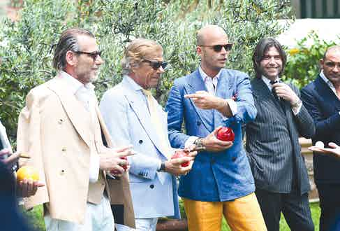 Lino Ilezzui, Luca Rubinacci and Valentino Ricci provide further evidence of the renaissance of classic men's elegance, as seen during Pitti Uomo.
