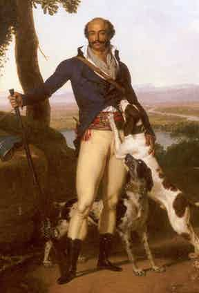 Portrait of a Hunter in a Landscape, attributed to Louis Gauffier (1762-1801), is said to be a portrait of Dumas.