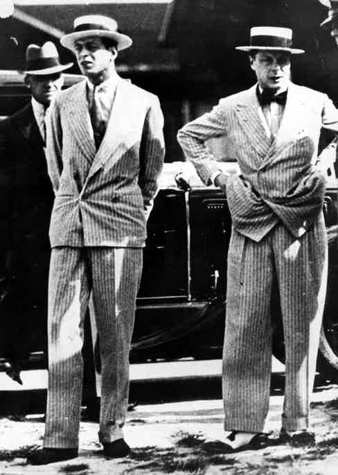 circa 1931:  Edward Albert, the Prince of Wales ( right) and his younger brother, Prince George later the Duke of Kent, in Panama, on their way to Buenos Aires where they are to open the British Empire Exposition.