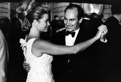 Princess Grace of Monaco dances with Prince Karim Aga Khan IV, 1966