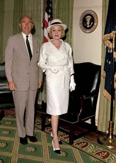 Marlene Dietrich visiting the White House, 1963