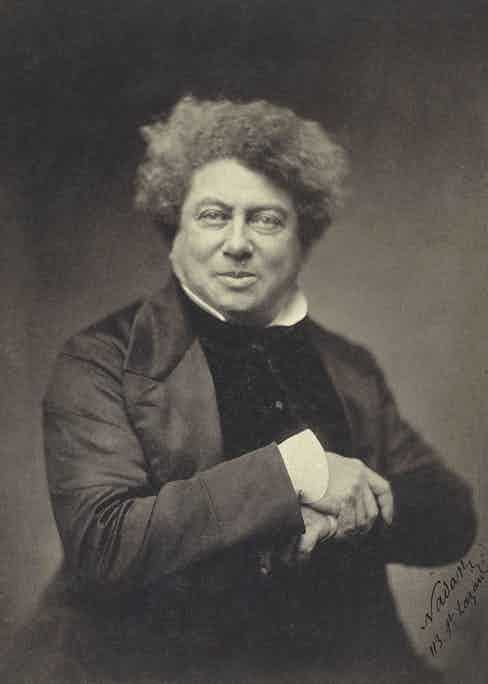 Alexandre Dumas, photographed in 1855.