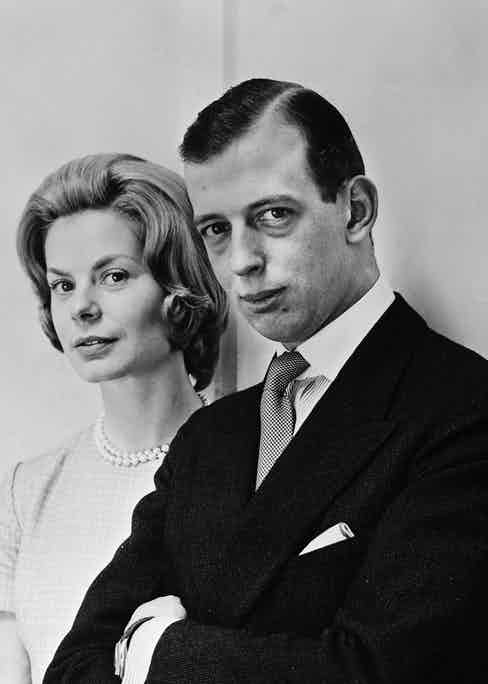 The Duke of Kent with his wife, Katherine.