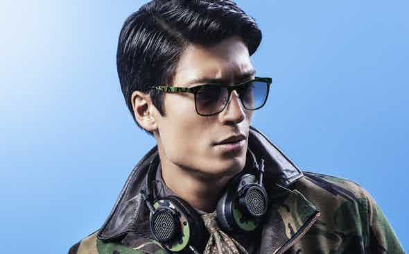 Italia Independent for The Rake Hand Painted Camouflage Sunglasses
