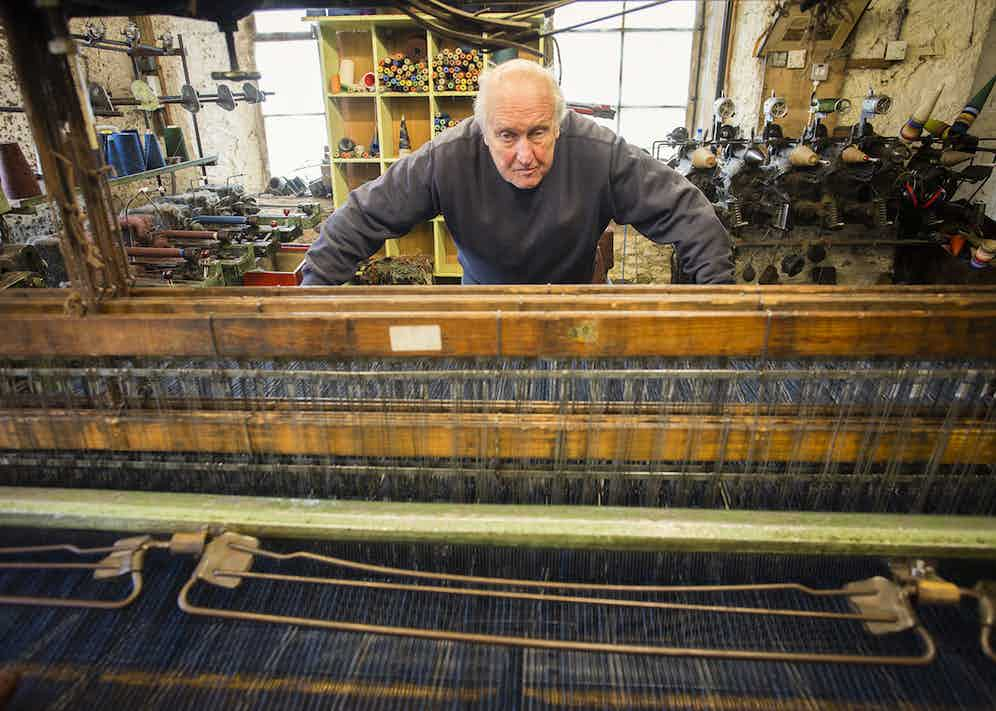 Gordon Covell, owner of the Islay Woollen Mill and hardcore man of the cloth.