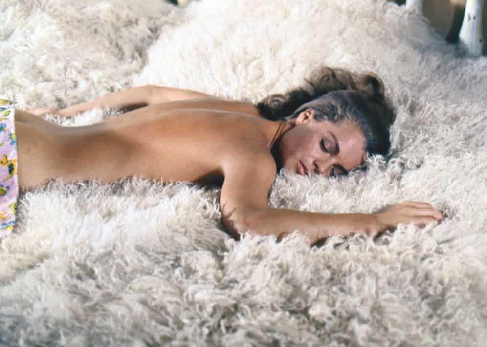 Romy Schneider on set of La Piscine