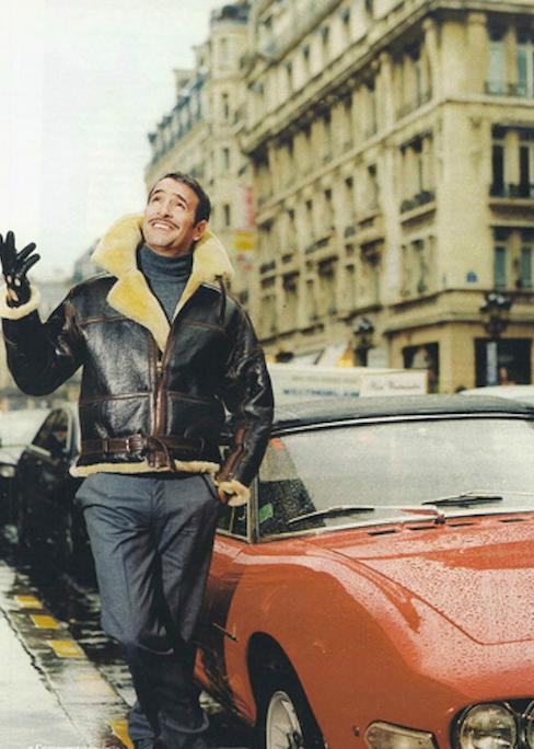 Jean Dujardin, actor, wears a Chapal bomber jacket.
