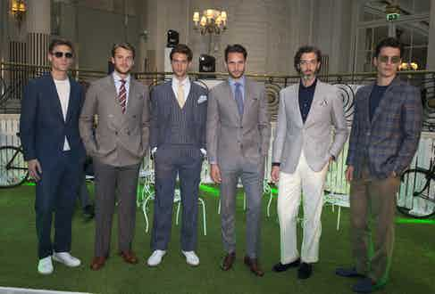 Chester Barrie's SS17 presentation models on parade.