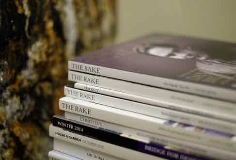 Like all the best individuals, Broosk leaves his collection of back issues on the kitchen counter – which is composed of a particularly rare type of polished marble by the way.
