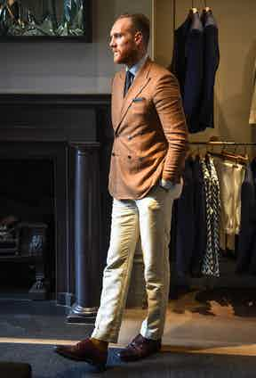 """Joe is a trouser turn-up man through and through. """"I always wear and inch and a half or two inch turn-up. It adds a bit of balance to the trouser and helps the hem to sit that bit easier."""""""