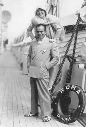 Douglas Fairbanks and Mary Pickford on their travels in the late 1920s.