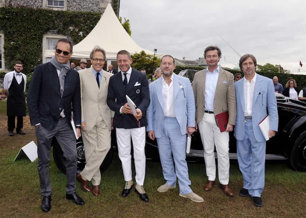 Flavio Manzoni, Lord March, Lapo Elkann,  Sir Jonathan Ive, Laurent Feniou and Marc Newson
