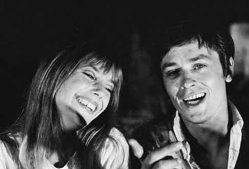 Alain Delon and Jane Birkin on the set of La Piscine, 1968. Photograph courtesy of Jean-Pierre Bonnotte/Getty.