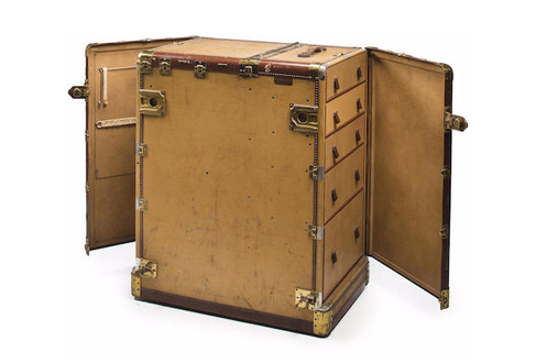 Humphrey Bogart's initialed Hartmann steamer trunk, which sold at auction for $475,000.00