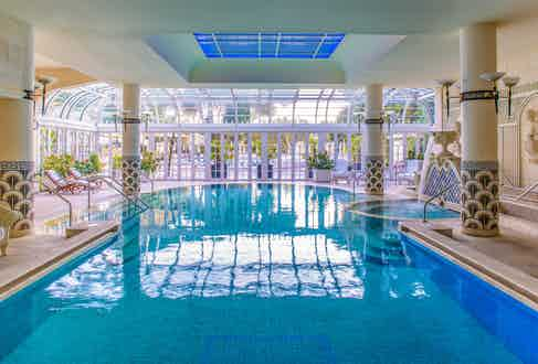 The indoor pool by day
