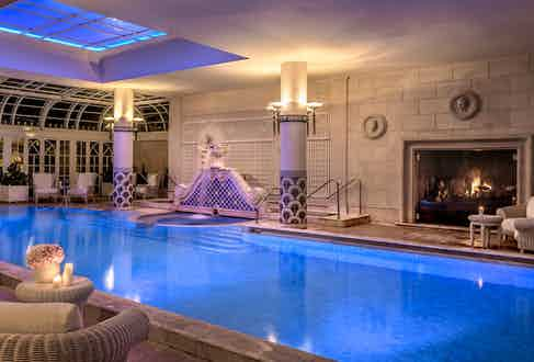 The indoor pool by night