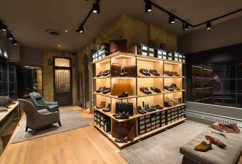 One of the emporium's shoe galleries.