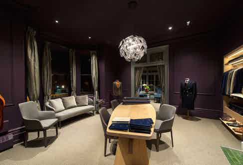The bespoke tailor's fitting room from another angle.