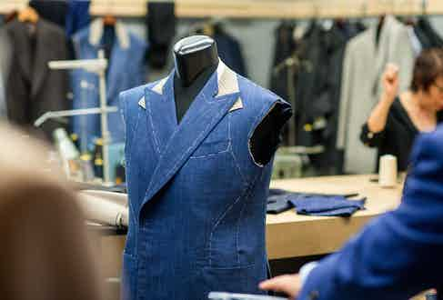 A Pecoraro coat at the Skeleton-basted stage.