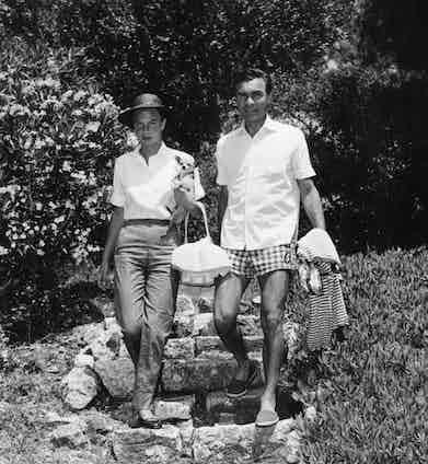Porfirio Rubirosa with wife Odile Rodin, 1965.