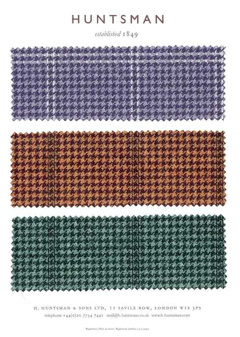 Another three prospective Rake house tweed designs.