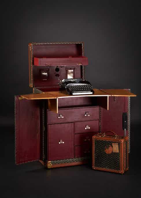 Sir Arthur Conan Doyle's special-order Goyard case that transformed into a desk. Photograph courtesy of Maison Goyard.