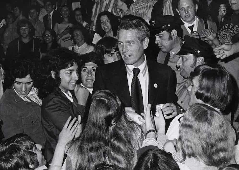 Paul Newman and supporters during 'Stars for McGovern' Benefit Fundraiser at Madison Square Garden in New York City, New York, United States. (Photo by Ron Galella/WireImage)